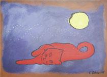 5.) Rote Katze, Druck auf Papier 50x70: 000.- €