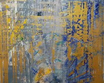 KERSTIN SOKOLL, gold II, 2020, O008 2019, 100 x 120 cm, SOLD