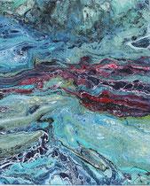 KERSTIN SOKOLL, Meeresgedankenstrom, 2017, G001, 50 x 60 cm, SOLD