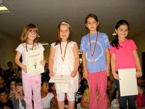 Bild 3: Sieger der Mädchen U8 von links nach rechts: Lena Heimerdinger, Hatice Özer, Pauline Hofert und Aylin Gürsü