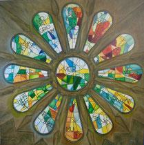 """""""Farben des Lichts - Gaudi"""", Öl auf Leinwand, 100 x 100 cm, verkauft"""
