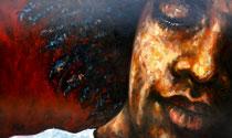 """""""We have a dream"""", Öl auf Leinwand, 152 x 92 cm, verkauft"""