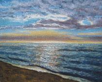 """Ruhe"", Pastell, 23 x 19 cm, verkauft"