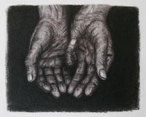 """""""Lebenslinien II"""", Graphit, Kohle und Pastell, 30 x 25 cm, 180 Euro"""
