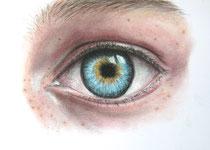 """""""eye to eye"""", Graphit und Pastell, 28 x 19 cm, 150 Euro"""