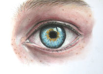 """eye to eye"", Graphit und Pastell, 28 x 19 cm, 150 Euro"
