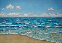 """""""Farben des Meeres"""", Pastell, 37 x 27 cm, 200 Euro"""