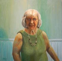 """""""Trudi"""", Öl auf Leinwand, 60 x 60 cm, verkauft"""