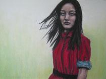 """Bright colors"", Kohle und Pastell, 40 x 30 cm, 200 Euro"