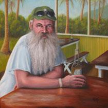 """""""Captain Tim"""", Öl auf Leinwand, 76 x 76 cm, 1800 Euro mit Rahmen"""