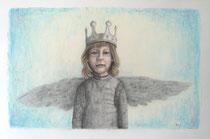 """""""Angel - Inspired by Bergemann"""", Graphit und Pastell, 45 x 30 cm, 300 Euro"""