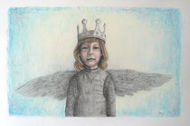 """""""Angel - Inspired by Bergemann"""", Graphit und Pastell, 45 x 30 cm, 450 Euro"""