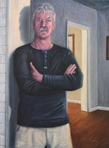 """""""My Father"""", Öl auf Leinwand, 76 x 100 cm"""
