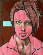 """""""Einblick III"""", Acryl, Ölkreide und Ö auf Malplatte, 40 x 50 cm, verkauft"""