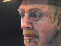 """""""Last Cowboy"""", Mixed Media, 30 x 20 cm, verkauft"""