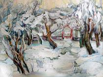 Garten im Schnee - Elena Ustinova