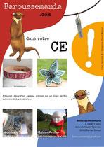 Présentation services et produits pour démarcher les CE pour Magali de l'entreprise Baroussemania _ Techniques : illustrations, photos, vectoriels