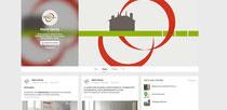 Profil du réseau social Google + créé par Cloé Perrotin aux couleurs du logo pour la Mairie et Commune de Garchy