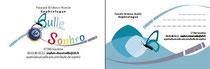 Cartes de visite recto & verso pour la sophrologue Pascale Bridoux-Ruelle de Bulle de Sophro créées par Cloé Perrotin de l'entreprise Illustr'&Vous