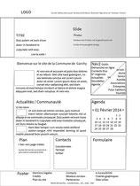 Proposition 1 de wireframe pour le site de la mairie de Garchy par Cloé Perrotin