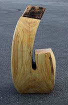 Christian Feig, Hybris, 2012, 7-teilig, Lindenholz, 104 x 110 x 205 cm, Detailansicht