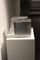 Christian Feig, Space No. 1, 2013, zweiteilig, Aluminium, 26 x 26 x 26 cm