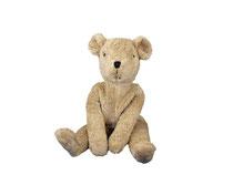Schlenkertier Bär beige (Biobaumwolle und schadstofffrei) von Senger