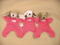 Schmusetücher Hase, Hund und Bär (Biobaumwolle) von Kallisto
