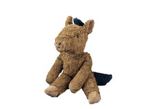Schlenkertier Pferd braun (Biobaumwolle und schadstofffrei) von Senger