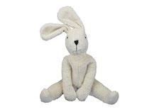 Schlenkertier Hase weiß (Biobaumwolle und schadstofffrei) von Senger