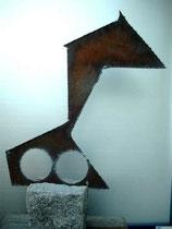 Eisen verrostet, 36 x 40 cm, 2004