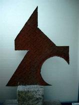 Eisen verrostet, 66 x 44 cm, 2004