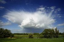 Wolken über der Oder, Märkisch Oderland