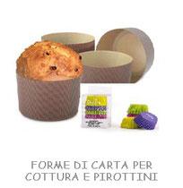 FORME DI CARTA PER COTTURA E PIROTTINI