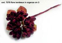 6 fiori bordeaux
