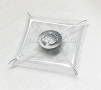 Scatola busta in pvc 7,5 x 7,5 cm  con chiusura in metallo ideale per il fai da te, la chiusura innovativa permette di chiudere la busta in pvc con facile dimestichezza non confezionata €1,60