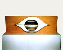 The Enchanted Eye, wood, steel, 100 x 34 cm, 2500 €