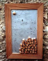The Outsider, Holz, Aluminium, 102 x 67 cm, 1000 €