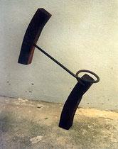 Creation of balance, Holz, Metall, 55 x 47 cm, 500 €