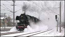 Anfahrt 50 3648 aus dem Bahnhof Niederwiesa.