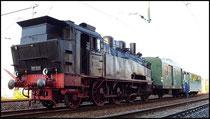 Am 23.08.2009 ist 75 501 (nur rollfähig) zur Durchreise in Niederwiesa, Bj. 1915 Sächs. Maschinenfabrik Chemnitz.