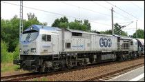 Am 22.06.2009 ist seltener Besuch in Niederwiesa: Blue Tiger 330091 von OHE.