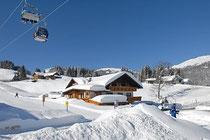Skifahren direkt von Ferienwohnung Nocker im Kleinwalsertal