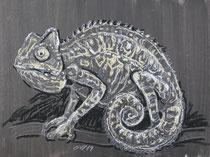 Chmäleon 8, Pastel auf Papier, 28 x 39 cm