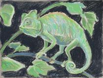 Chmäleon 5, Pastel auf Papier, 28 x 39 cm