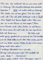 Handschriftlicher Brief von Jörg zu seiner Beschneidung