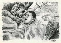 964  P 1177 Schmerz 3, Junge bei der Beschneidung im OP, festgeschnallt und festgehalten, Gersthofen, 29.6.2012