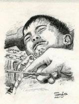 963  P 1176 Schmerz 2, Junge bei der Beschneidung im OP, festgeschnallt und festgehalten, Gersthofen, 29.6.2012