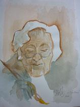 Frau Hensel portraitiert von unserem Gast, Herrn Künzel