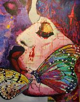 """""""last kiss of a butterfly"""" / 100 x 80 x 5 / acryl auf holz-leinwandrahmen / preis auf anfrage VB"""